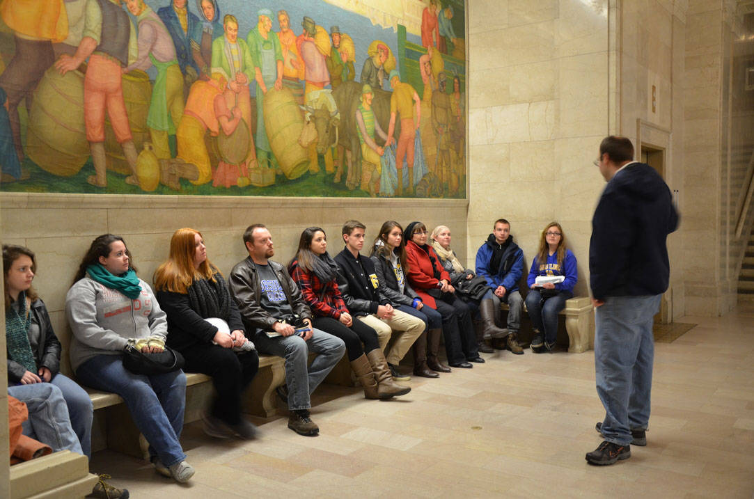 Historic preservation students at Cleveland Museum of Art