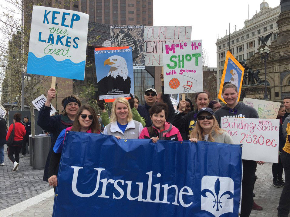 Ursuline students and faculty attend the March for Science