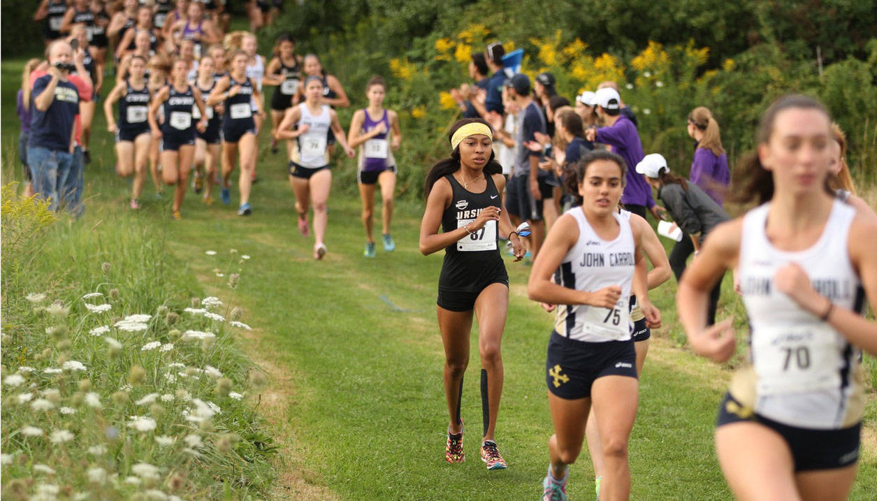 Ursuline College cross country runner competes