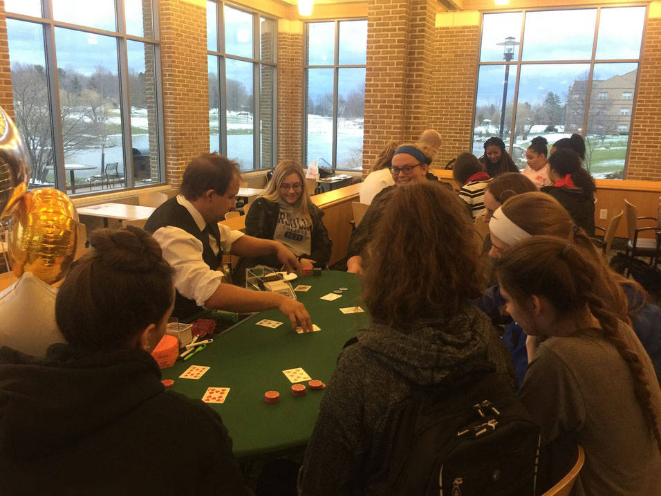 Ursuline Students play poker tournament