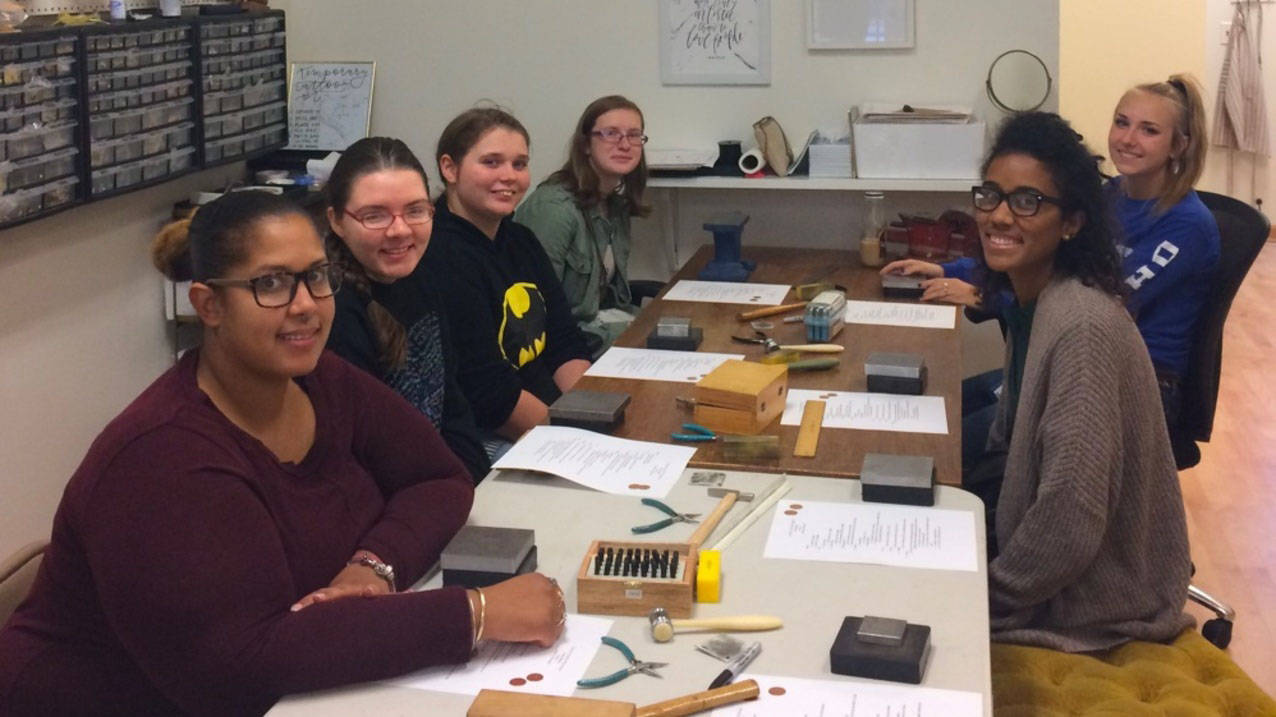 Ursuline students learn to make jewelry