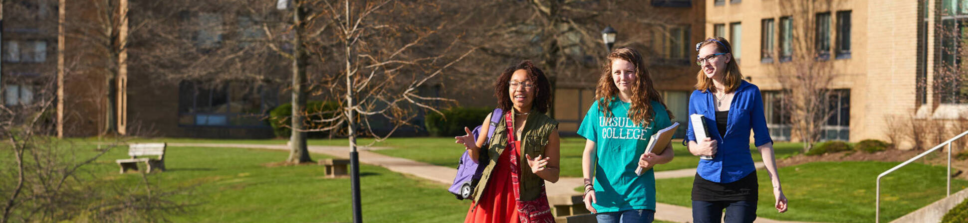 Ursuline college students walking to class2